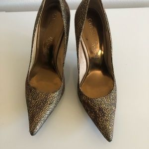 Gold Guess Pumps